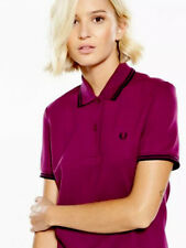 FRED PERRY UK 8 Ladies Bright Bramble  Polo Shirt