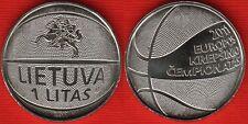 """Lithuania 1 litas 2011 km#new """"Basketball"""" UNC"""