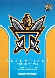 NRL - Essentials - Gold Coast Titans BRAND NEW 3DVD SET! free post!
