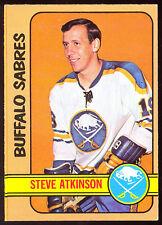 1972 73 OPC O PEE CHEE #40 STEVE ATKINSON  NM BUFFALO SABRES HOCKEY CARD