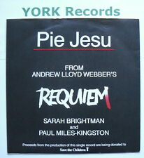 "SARAH BRIGHTMAN & PAUL MILES-KINGSTON - Pie Jesu - Ex Con 7"" Single EMI WEBBER 1"