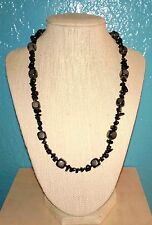 Gray Necklace Men's Black and