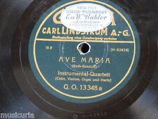78rpm Bach Gounod AVE MARIA/Händel Largo GLORIA GO 13348