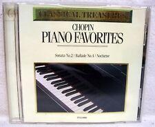 Chopin piano Favorites Sanata Ballade Nocturne USED CD