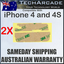 2x Original 3M Double Sided Adhesive Tape iPhone 4 4S Glass Screen LCD Digitizer