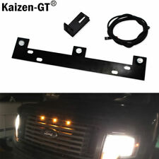 Raptor Style Amber LED Grille Lights Kit w/ Mounting Bracket For 09-up Ford F150