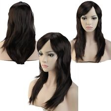 Hot Sale! Party full wig straight wigs full head Shiny Color dip dye Dark Brown