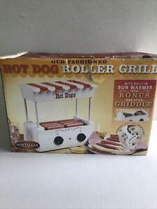NOSTALGIA ELECTRICS Retro 50s Hot Dog Roller/Grill/Warmer Machine (Open Box)