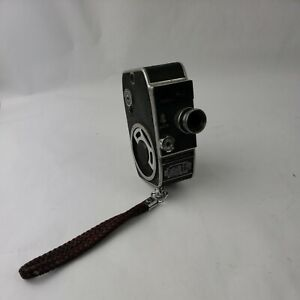 VINTAGE PAILLARD BOLEX C 8  MODEL 8MM MOVIE CAMERA w/ Leather Strap Display Only