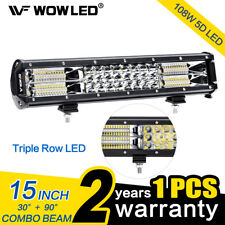 12 Inch 108W 5D LED Work Light Bar Triple Row Offroad Driving Roof Light Car SUV