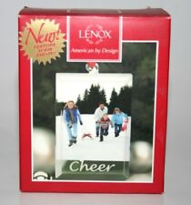 Lenox American By Design Sweetest Sentiments Glass Cheer Photo Frame Ornament