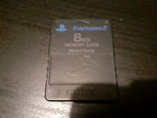 Official Sony Playstation 2 PS2 8 Mo Memory Card Carte mémoire
