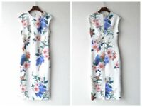 NEW Ted Baker SHARLEY Floral Print Bodycon dress WHITE, 0-5