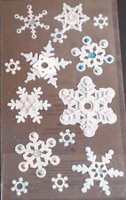 Jolee's Boutique Snowflakes Vellum Winter Scrapbook Craft Stickers Embellishment