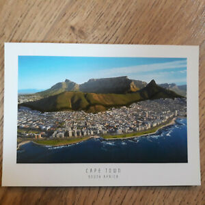 Postcard Air View Sea Point and Table Mountain Cape Town South Africa Postcard