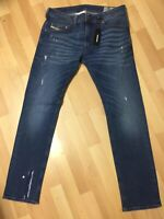 Mens Diesel THAVAR STRETCH DENIM R8K58 DARK Blue Slim W31 L30 H6 RRP£160