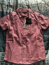 BNWT Boys French Connection Red Checked Shirt Age 6-7. RRP £40