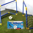 LARGE Portable Goals Nets Kids Outdoor Indoor Football Soccer Ball Pump Set