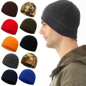 1pc Unisex Warm Cap Fleece Ski Hat Men Thermal Beanie Helmet Hat Outdoor Casual