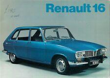 Renault 16 1972-73 UK Market Sales Brochure L TL TS