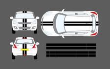 Suzuki Swift 10-17 Roof Bonnet Tailgate Sport Stripe Decal Graphic Sticker Set