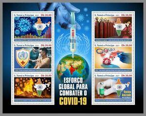SAO TOME 2021 ** Rotes Kreuz Red Cross Pandemie #36-333aB