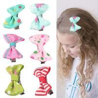 10Pcs Kids Baby Girl's Bow Ribbon Hair Mini Latch Clips Hair Clip Hairpins