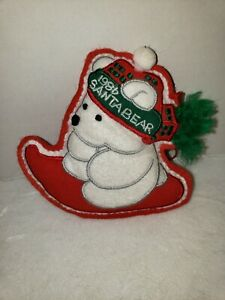 Rare Vintage Dayton Hudson Marshall Fields 1986 Santa BearChristmas Ornament