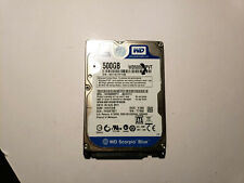 Western Digital 500GB Sata Laptop HARD DRIVE WD5000BPVT-80HXZT3  TESTED