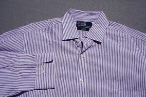Ralph Lauren Polo Philip Classic Fit Button Front Shirt. Purple, Stripe 16 34/35