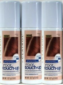 (3) Clairol Auburn Red Root Touch Up Temporary Color Refreshing Spray 1.8 Oz