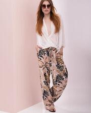 NWT $495 Rag & Bone 'Victoria' Silk Floral Print Wide Leg Relaxed Pants,sz.4/S