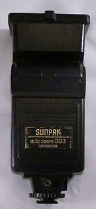 Sunpak Auto Zoom 333 Thyristor Electronic Flash Shoe Mount Tested