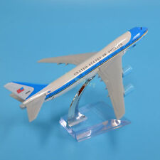 New 1:444 Metal Aluminium U.S.A Air Force One B 747 Aircraft Plane Model 15.5cm