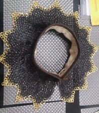 chainmail coller (neck proction) ~ 9 MM flat riveted with bress ring zig,zak A1