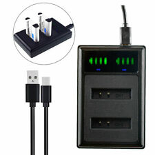 Battery USB LED Dual Charger for Ricoh DB-110 DB110 Ricoh GR III Digital Camera