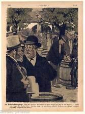 Hofbräu casa-giardino BIRRA-BIRRA-MONACO-litografia di gioventù Monaco 1901