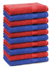 Betz 10 Toallas de cara 30x30cm PREMIUM 100% algodón de colores azul y rojo