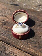 Ladies 18ct Gold Blue & White Sapphire Ring.