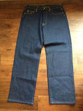 Evisu Indigo Genes Japan Hip Hop Denim Spellout Jeans Size Mens 36 x 34