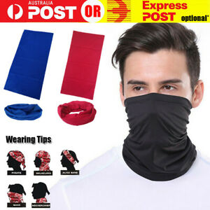 Cooling Neck Gaiter Cover Balaclava Bandana Face Scarf Tube Warmer for Cycling