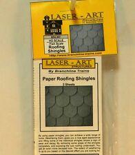 NIB HO Branchline Laser-Art #907 Fish Scale Style Roofing Shingles 2 Sheet Kit