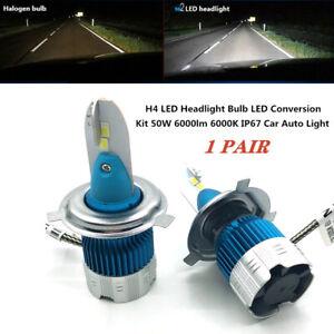 12V H4 50W 6000K Car Auto Universal LED Headlight Bulb Led Conversion Kit Light