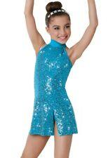 Weissman Dance Costume Light up the World 5854, Medium UK 8-10, Peacock, New