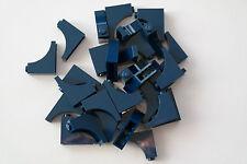 30 Lego Bogensteine rund 1x3x2 invers negativ dunkelblau NEU 18653