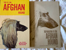 Lot Of 2 Afghan Hound Books: This Is The Afghan Hound, Intro To The Afghan Houn