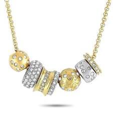 Сваровски женские ожерелье, золотые и серебряные тон кристалл смесь Каури 1093310