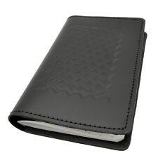 Basketweave Leather Calendar Cover Case Book Style Pocket Planner Holder