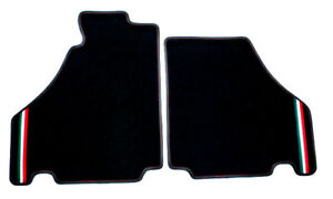 Black velours floormats for Ferrari F430  (Coupe) 2005-2009 with Italo strips