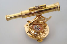 Antique Elegant Vintage Look Alidade Compass Brass Finish Classy Decorative Item